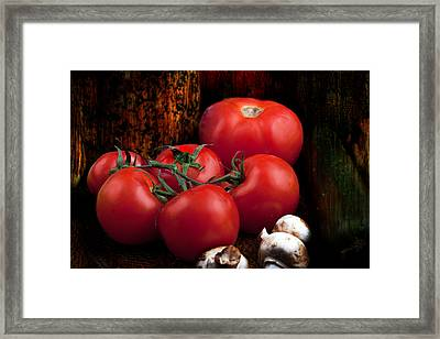 Framed Print featuring the photograph Group Of Vegetables by Gunter Nezhoda