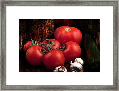Group Of Vegetables Framed Print