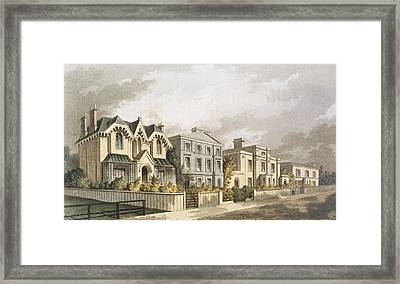 Group Of Villas In Herne Hill Framed Print by English School