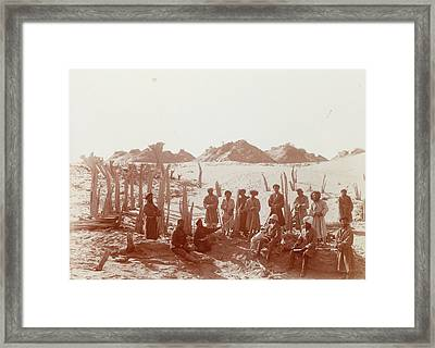 Group Portrait At The Niya Site Framed Print