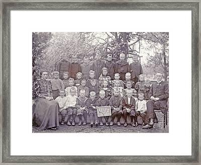 Group Portrait, Class Photos, Class Of H S II In Ter Aar Framed Print by Artokoloro