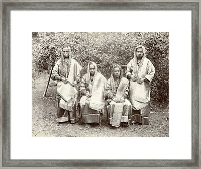 Group Portrait Of Four Minangkabau Women In Rich Costume Framed Print by Artokoloro
