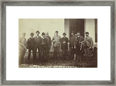 Group Portrait Of Hunt With Ao Martin And Henry Peacock Framed Print by Artokoloro