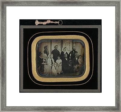 Group Portrait Of Ten Eynard-lullin Family Members Framed Print by Litz Collection