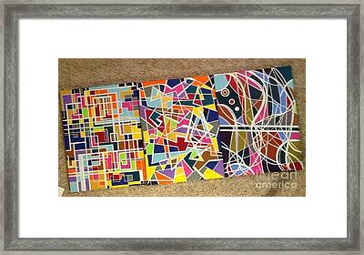 Groupe Of Three Framed Print by Hang Ho