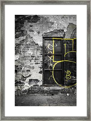 Groupie At The Backstage Door Framed Print