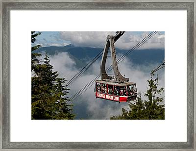 Grouse Mountain Skyride Framed Print by James Wheeler