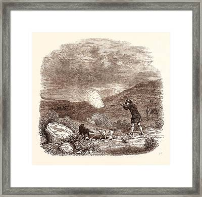 Grouse Shooting In August Framed Print by English School