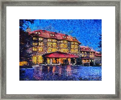 Grove Park Inn Framed Print by Elizabeth Coats
