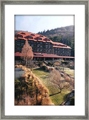 Grove Park Inn In Early Winter Framed Print by Paulette B Wright