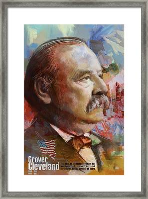 Grover Cleveland Framed Print by Corporate Art Task Force