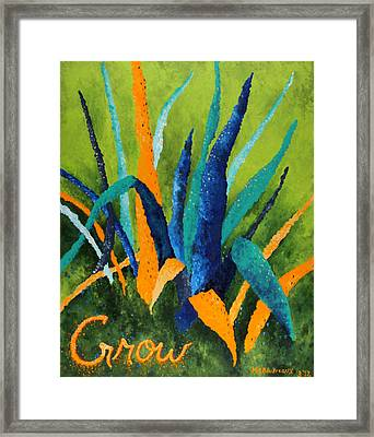 Grow 1 Framed Print by Michelle Boudreaux