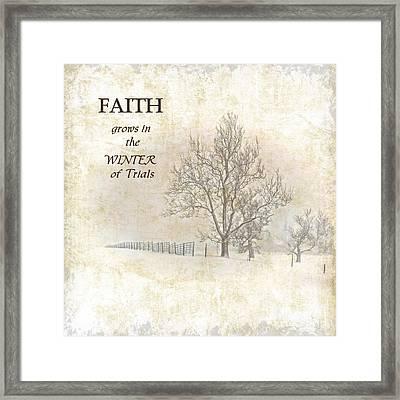 Grow Your Faith Framed Print by Pamela Baker
