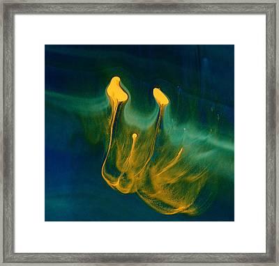 Growing Confidence - Fluid Abstract Art By Kredart Framed Print