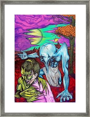 Framed Print featuring the drawing Growing Evils by Michael  TMAD Finney