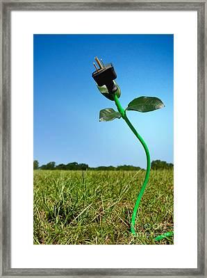 Growing Green Energy Framed Print
