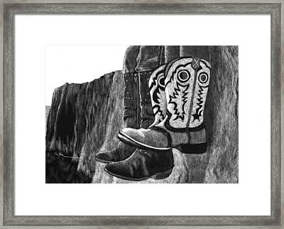 Growing Into Them Framed Print by Diane Cutter