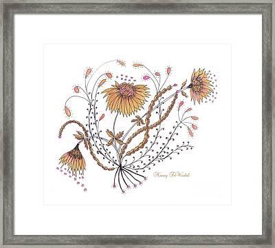 Growing Joy Framed Print by Nancy TeWinkel Lauren