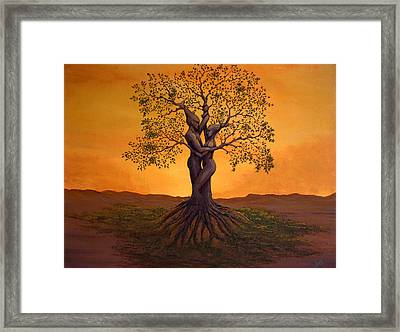 Growing Together Framed Print by Michael Wheeler