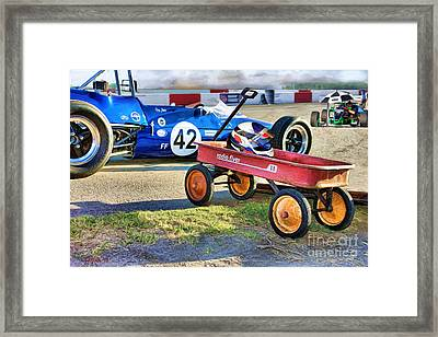 Grown-up Flyer Framed Print by Tom Griffithe