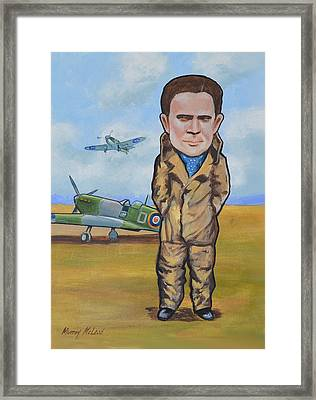 Grp. Capt. Douglas Bader Framed Print by Murray McLeod