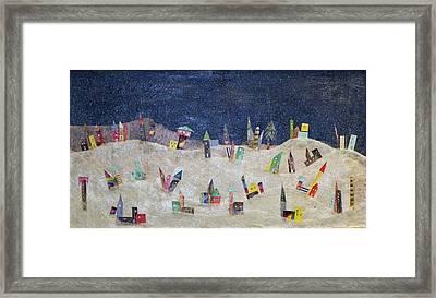 Gruberville Framed Print by Linnie Greenberg