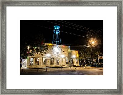 Gruene Hall Framed Print