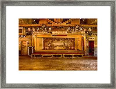 Gruene Hall Framed Print by Priscilla Burgers
