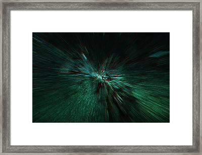 Gruene Welle Framed Print