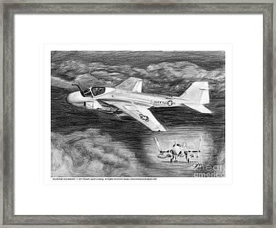 Grumman A-6 Intruder Framed Print by Sarah Howland-Ludwig