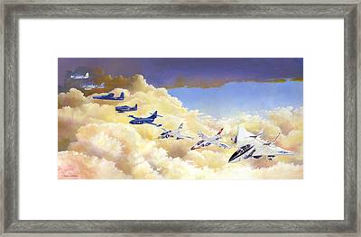 Grumman Cats Fantasy Formation Framed Print
