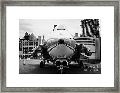 Grumman F14 Tomcat On The Flight Deck Of The Uss Intrepid At The Intrepid New York Framed Print