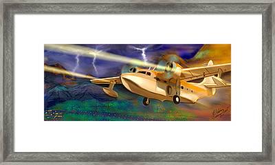 Grumman Goose Framed Print by Gerry Robins