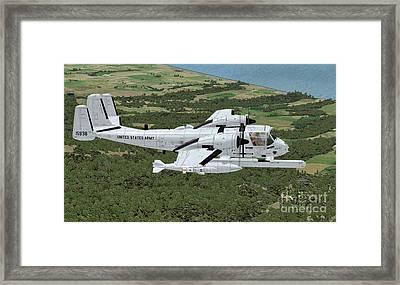 Grumman Ov-1 Mohawk Framed Print