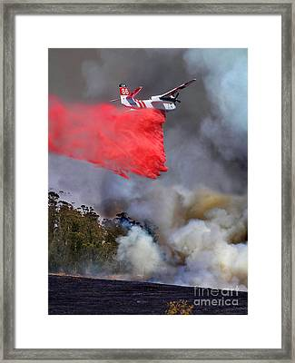Grumman S-2f3at Fire Retardant Drop Framed Print by Wernher Krutein