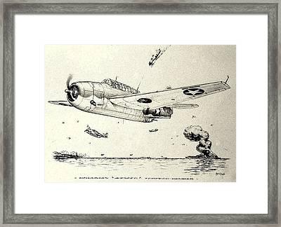 Grumman Tbf-1 Avenger Framed Print by Hank Clark
