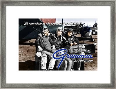 Grumman Test Pilots Framed Print