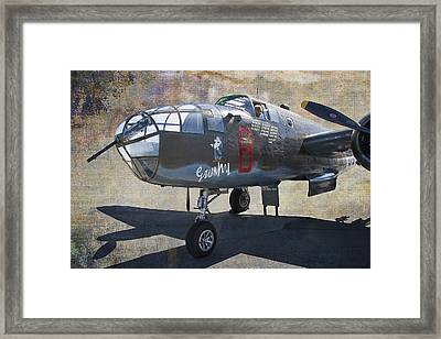 Grumpy  B-25 D Mitchell Bomber  /  43-3318 Framed Print by Daniel Hagerman