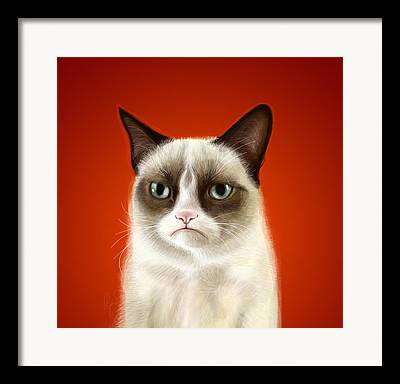 Cat Art Framed Prints