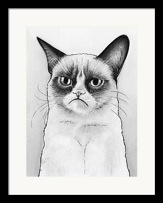 Pet Drawing Drawings Framed Prints