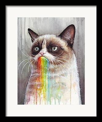 Rainbow Mixed Media Framed Prints