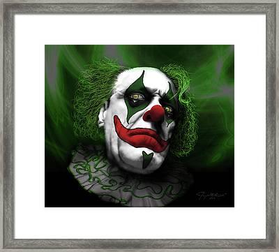 Grumpy Green Meanie Framed Print