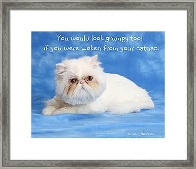 Grumpy Framed Print