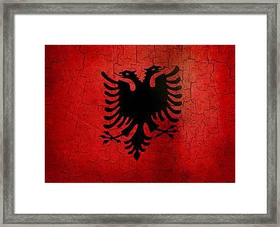 Grunge Albania Flag Framed Print