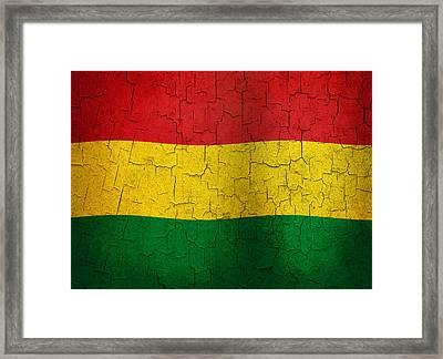Grunge Bolivia Flag Framed Print