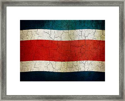 Grunge Costa Rica Flag Framed Print
