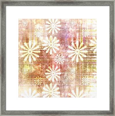 Grunge Flowers Framed Print by Gina Lee Manley