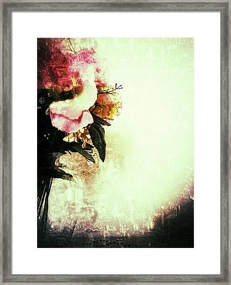 Grunge Flowers Framed Print