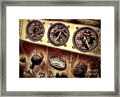 Grunge Gauges  Framed Print