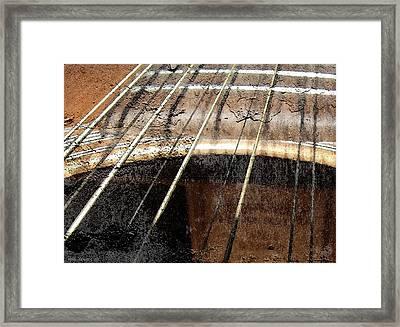 Grunge Guitar Framed Print